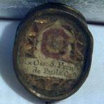 Reliquiario in metallo dorato. Bottega toscana sec. XX