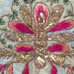 Velo omerale bianco in seta con gallone in oro, manifattura toscana sec. XVIII