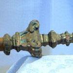 Vessillo processionale con croce apicale, bottega toscana sec. XIX