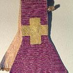 Manipolo con motivo orizzontale di colore viola. Manifattura italiana (1835)