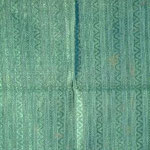 Velo da calice colore verde con motivo verticale. Manifattura italiana sec. XIX