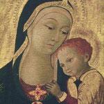 Madonna con Bambino. Scuola senese sec. XV 2/2