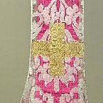 Manipolo con motivo floreale e fiore a corolla. Manifattura toscana sec. XVII
