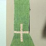 Manipolo in seta verda. Manifattura italiana sec. XVIII-XIX