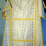 Tonacella bianca con disegno quadrilobo giallo. Manifattura italiana sec. XX