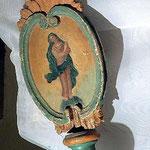 Mazza pastorale con raffigurata la Madonna. Bottega toscana sec. XVI