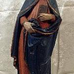 Madonna Annunciata con monogramma mariano su base, bottega toscana sec. XIX-XX