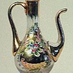 Ampollina in vetro decorato. Bottega italiana sec. XX