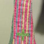 Manipolo in seta con righe verticali. Manifattura italiana sec. XVIII