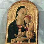 Madonna con Bambino. Scuola senese sec. XV 1/2