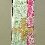 Stola con motivo floreale e fiore a corolla. Manifattura toscana sec. XVII