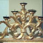 Gradino di candelabro in legno dorato, bottega toscana sec. XVIII