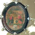 Reliquiario del San Biagio in resina. Bottega toscana sec. XVII-XVIII