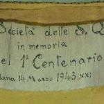 Piviale damascato in oro con motivo vegetale. Manifattura italiana (1943)