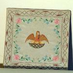 Borsa con pellicano ricamato al centro. Manifattura italiana sec. XIX