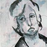 Sadness - 27 x 35 cm on paper