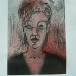 Selfportrait 2 - etching - 16,5 x 12 cm