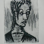 Selfportrait 3 - etching - 16,5 x 12 cm