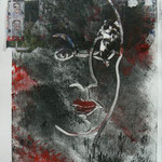 Elections - Monotype and collage - 25 x 17 cm