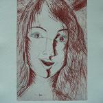 Sofie - Etching - 10 x 16 cm