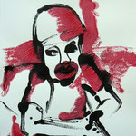 Warchild II - Monotype with acryl - 50 x 70 cm
