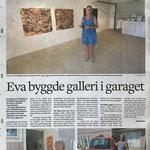 Eva byggde galleri i garaget. Kalmar läns tidning 19/8/2021