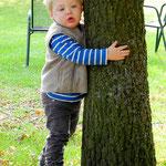 Tim lief einfach zum Baum und umarmte ihn :)