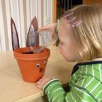 Fione wässert ihren Samen.