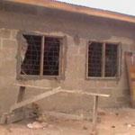Die noch im Bau befindliche Kindertagesstätte von vorne
