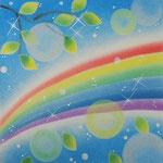 虹とシャボン
