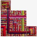 Puzzle (140x140cm les 3 pièces)  Acrylique sur toile marouflée sur bois