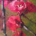 Flowers pixels - Acrylique sur toile (60x40cm)