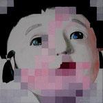 Face B... les automates - Acrylique et lavis sur toile (30x30cm)