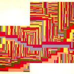 Puzzle (140x90cm les 2 pièces)  Acrylique sur toile marouflée sur bois