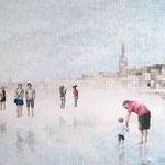 Miroirs - Acrylique et mine graphite sur toile (30x40cm)