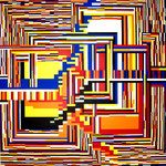 Jeu de dés (80x80cm) Acrylique sur toile marouflée sur bois