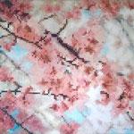 Pixels flowers - Acrylique sur toile (100x90cm)