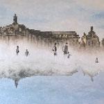 Miroirs - Acrylique et mine graphite sur toile (130x90cm)