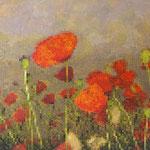 Flowers pixels - Acrylique sur toile (125x85cm)