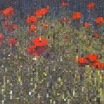Flowers pixels - Acrylique sur toile (80x60cm)