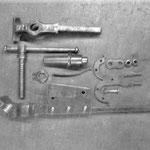 Schmiedeschraubstock um 1900, zerlegt u. gereinigt