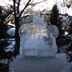 Concours de sculpture de glace - Un banc pour se rafraîchir les idées