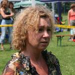 Schapendoeszüchterin Doris ist (leicht gestresste :-)) Sonderleiterin bei der Schapendoes Clubschau