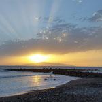 Sonnenuntergang Playa de Las Américas, Teneriffa