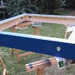 Das erste Dachsegment ist blau