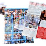 Mailing zum Thema Europas Außengrenzen: Der Informationsflyer hat Zeitungscharakter  mit Infografiken etc. und auf der Rückseite ein Kampagenmotiv welches als Poster verwendbar ist.