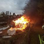 Brand im Schrebergarten