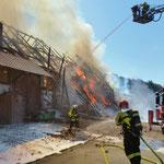 Brand eines Bauernhauses