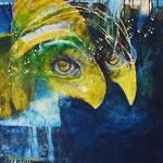Aristophanes - (Peithetairos und Euelpides) 50x60 cm Canvas 2016 © Peter K. Endres