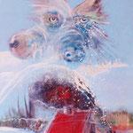 Winterwolf - 60x80 cm Canvas - 2018 © Art by Peter K. Endres